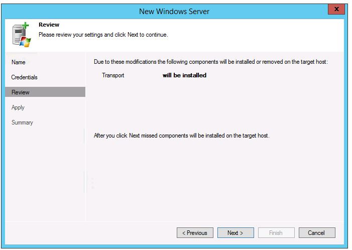 veeam 8 wan acceleration setup add new WAN Accelerator add new server install