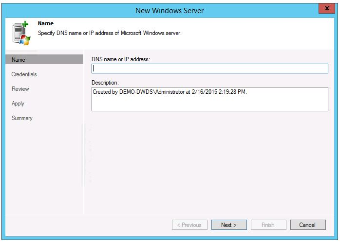 veeam 8 wan acceleration setup add new WAN Accelerator add new server type in name