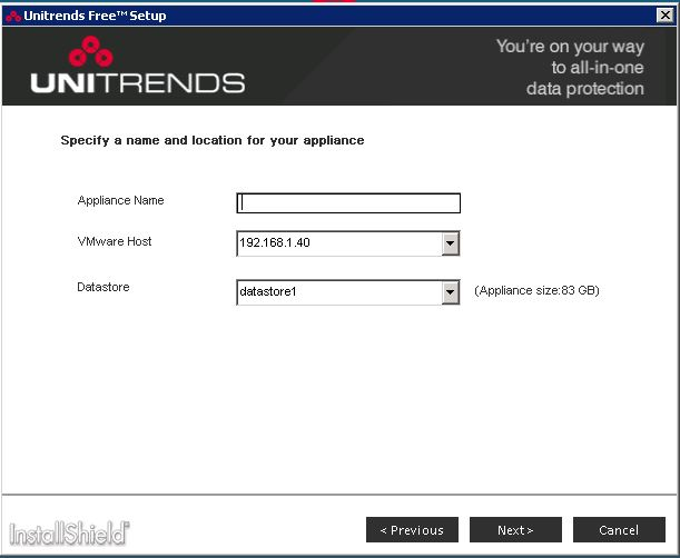 unitrends free edition vcenter host and datacenter