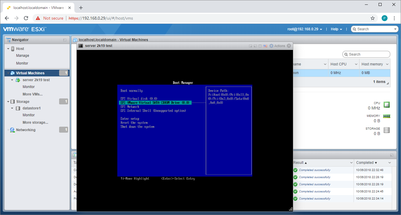 Installing Windows Server 2019 on ESXi 6 7 – vBrainstorm com